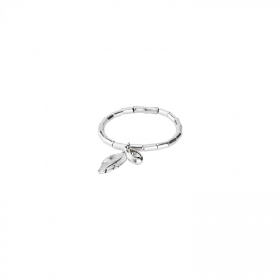 Uno de 50 bracelet with feather swarovski crystal PUL1775GRSMTL0M