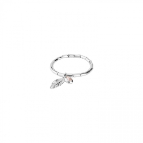 Uno de 50 bracelet with feather swarovski crystal PUL1775RSAMTL0M