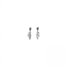 Uno de 50 earrings alloy feather swarovski MIRAME PEN0597GRSMTL0U