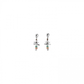 Uno de 50 earrings with colourful beads ALL THE TIME PEN0582MCLMTL0U