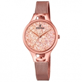Festina woman watch mademoiselle stainless steel pink crystals pink F20333/2