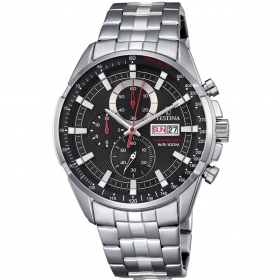 Festina mens watch steel chron