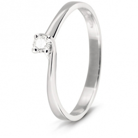 Bliss solitaire ring diamond 0,14 ct coll. Diva 20060620 mis.13