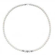 Bliss woman necklace collier beads Paradise inserts 18kt white gold 45cm 20067233