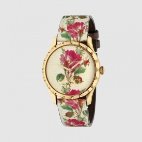 Gucci watch women's g-timeless 38 mm floral pattern YA1264084