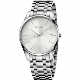 Calvin klein man watch Time steel silver dial 40mm K4N21146