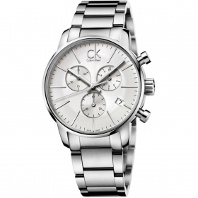 Calvin klein watch CITY chrono steel silver dial K2G27146