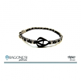 The aragonese bracelet 316l stainless steel with galvanic treatment and logo BR1809