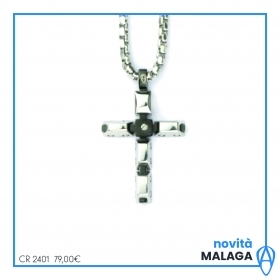 Aragonese necklace 316l stainless steel with cross CR2401