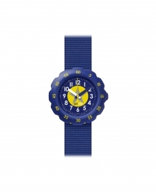 FLIK FLAK WATCH BLUE BABY YELLOW ASTERISCUS FPSP023