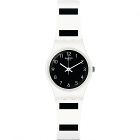 Swatch watch lady 25 mm, black and white ZEBRETTE LW161