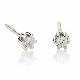 Chimento earrings point light in white gold 18 kt diamonds 0.14 ct 1OEE0072G5000