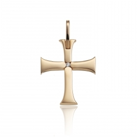 Chimento cross in 18 kt rose gold with diamnte 0.02 ct 1C01802BB6000