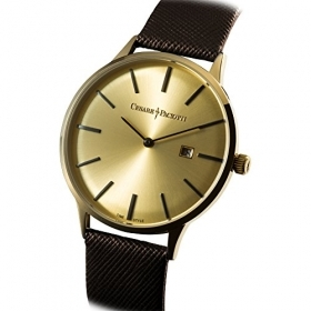 CESARE PACIOTTI mens Watch leather ERIC GOLDEN BROWN case gold 42mm TSST122