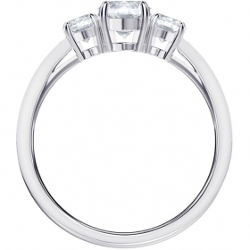 Swarovski Ring Attract Trilogy Round, white, rhodium plating 5414972