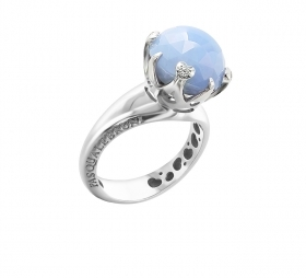 Pasquale Bruni ring white gold chalcedony diamond sissi 15537b