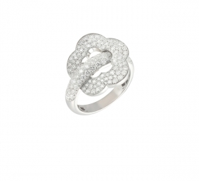 Pasquale Bruni ring white gold and diamonds size 13 15403b