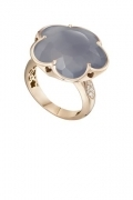 Pasquale bruni ring bon ton pink gold, diamonds, grey agate 15061r