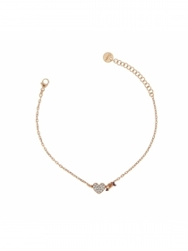 Rue des mille bracelet double subject, cubic zirconia heart arrow BRZ, 201-C3