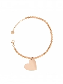 Rue des mille Bracelet dots and carabiner pendant with heart BR.PAL-XS