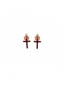 Rue des mille EARRINGS LOBO ENAMEL CROSS OR LOBE SMA CROSS