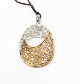 Lorenzo Ungari PENDANT ROSE AND WHITE GOLD PE S 0707