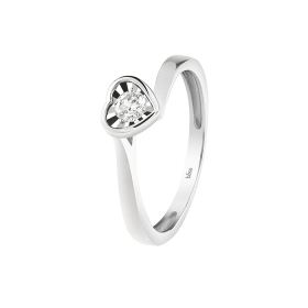 Bliss ring women's size 13 heart with diamonds 20082473