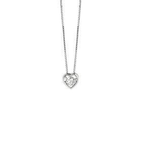 Bliss necklace white gold hear