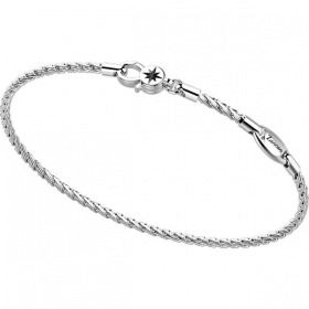 Zancan Bracelet in sterling silver with square mesh and star EXB755-L