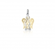 Roberto Giannotti PENDANT ANGEL SMALL GOLD AND WHITE WINGS, a YELLOW GOLD NKT278