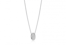 Sif Jakobs Pendant Imperia Club in silver with cubic zirconia white SJ-P1035-CZ/45