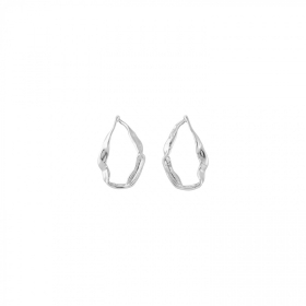 Earrings tide silver alloy circle PEN0627MTL0000U