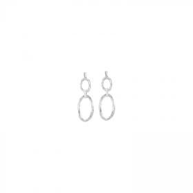 Uno de 50 pendant earrings alloy silver cabos PEN0611MTL0000U