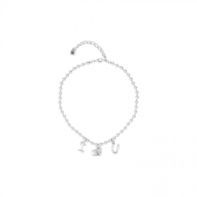 Uno de 50 necklace alloy silver heart i love you COL1367MTL0000U