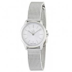 Calvin klein woman watch (minimal stainless steel mesh milan 24mm K3M23126