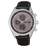 Citizen watch chrono man stainless steel leather strap CA0451-11H