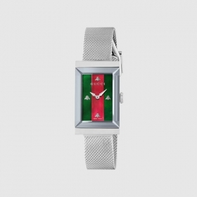 Gucci watch woman stainless steel mesh milano g-frame YA147401