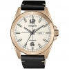 Vagary watches steel case color rose gold strap leather automatco IX3-025-10