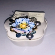 Gabriella Rivalta YELLOW GOLD RING WITH PENDANTS AND FLOWER AFR/ANEM