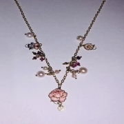 Gabriella Rivalta NECKLACE YELLOW GOLD WITH PEARLS PENDANTS 331GRSA2