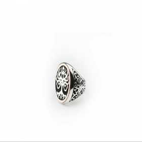 Tree of life ring-gold 9 kt and silver 925 013A-ADV