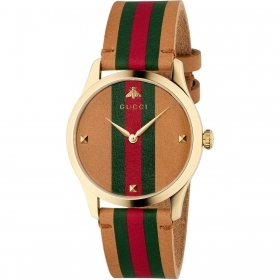 Gucci unisex wristwatch 38 mm g timless leather strap YA1264077