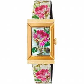 Gucci watch women's g-frame 21x34 mm floral pattern YA147406