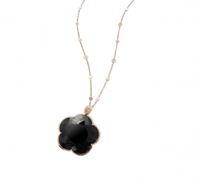 Pasquale Bruni Necklace Ton Jolie gold and black stone 15589R