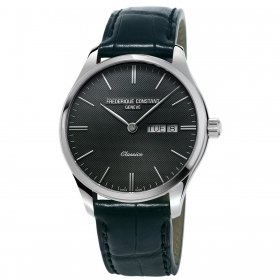 Frederique Constant watch classes steel case leather strap FC-225GT5B6