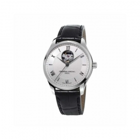 Frederique Constant mens watch automatic black leather stainless steel FC-310MS5B6