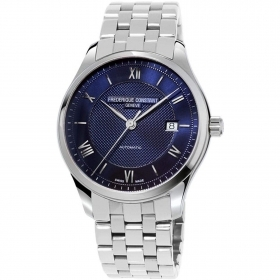 Frederique Constant mens watch automatic steel blue dial FC-303MN5B6B