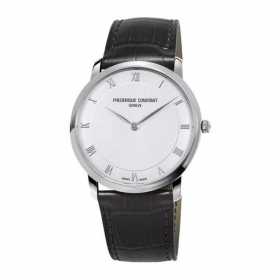 Frederique Consant watch man steel leather strap slimline FC-200RS5S36