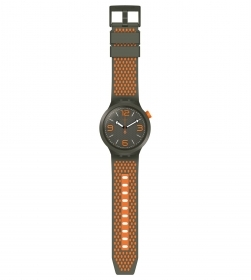 Swatch mens watch big bold military green and orange BBBEAUTY SO27M101
