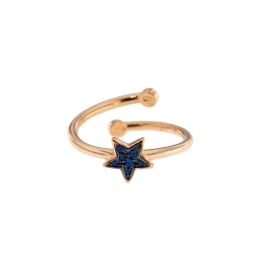 RUE DE MILLES RING IN ROSE' BLUE STAR ANZ-022 STAR